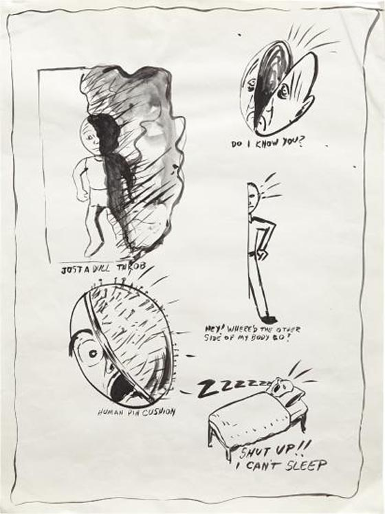 MIKE KELLEY, Untitled, from the Sublime (Study for Headache Napki…, 1983