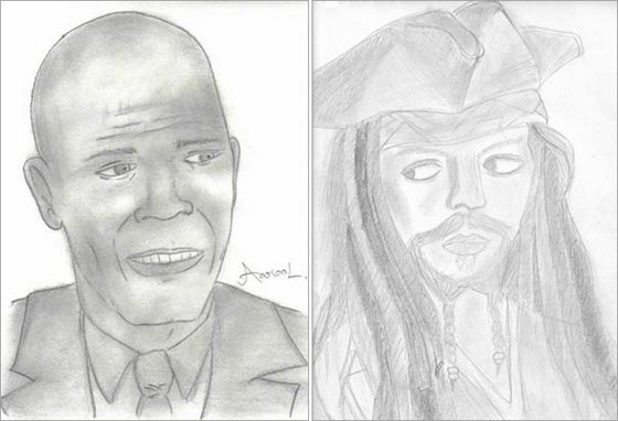 Samuel Jackson & Johnny Depp