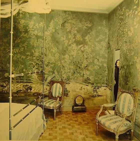 Baroness Pauline de Rothschild at her apartment in Paris, 1969