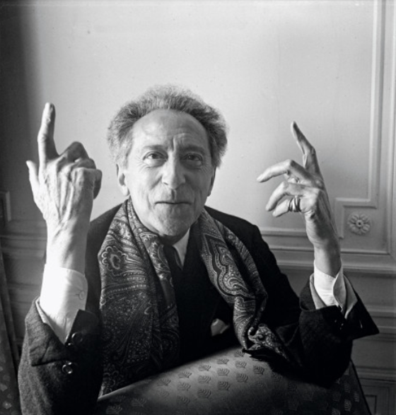 JEAN COCTEAU: Conversationally, Cocteau is without peer—witty, fantastic, funny, cruel. The full charm of an electrically wired personality makes you forget his appearance—that of a dressed-up monkey on an organ-grinder's stick. But isn't there something of a tradition in France for ugly vitality (Cocteau, Colette, Barrault) versus classical good looks?