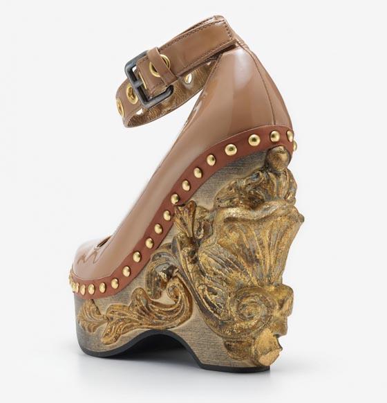 2006: Miu Miu, Cammeo Baroque, leather wedge.