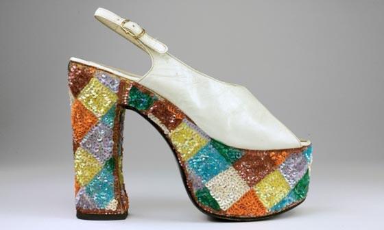 1974-79: Casuccio e Scalera per Loris Azzaro, Italy, leather, synthetic material and cotton.