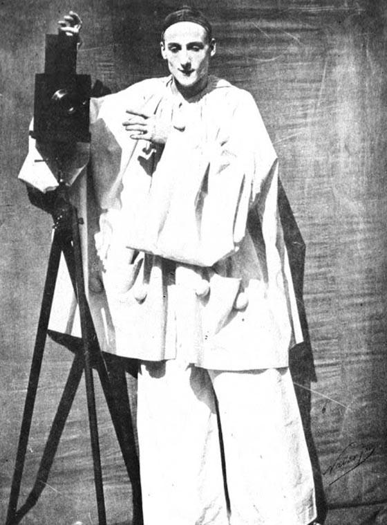 Felix Nadar & Adrien Tournachon, Pierrot photographer by the mime Debureau, 1854