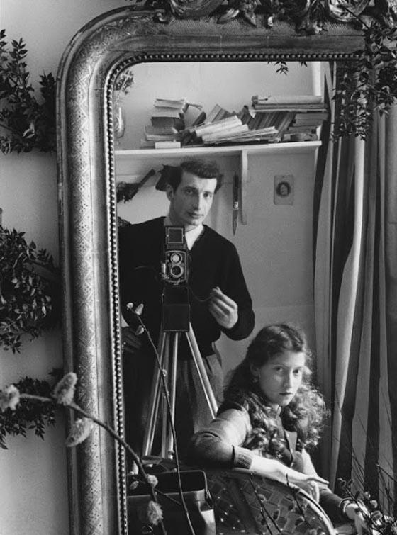 Edouard Boubat, Self-portrait with Lella, 1951
