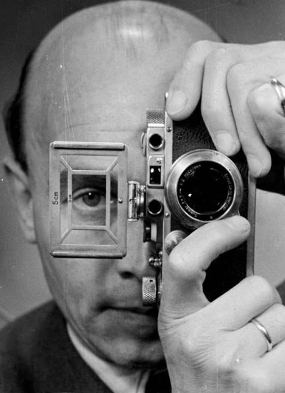 Umbo (Otto Umbehr), Self-portrait with Leica, 1952