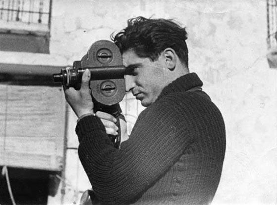 Gerda Taro, Robert Capa, Segovia Front, Spain, 1937