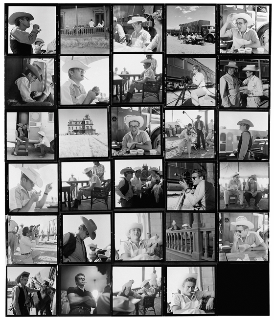On the set of Giant with James Dean, 1956
