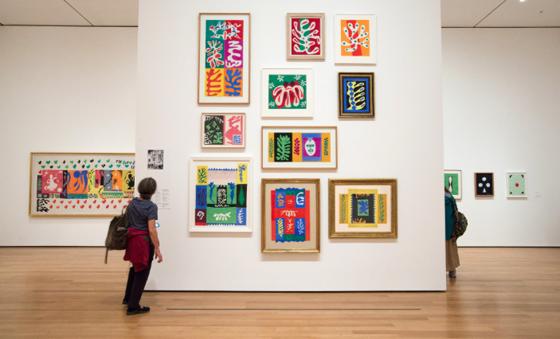 Matisse installation at MoMA