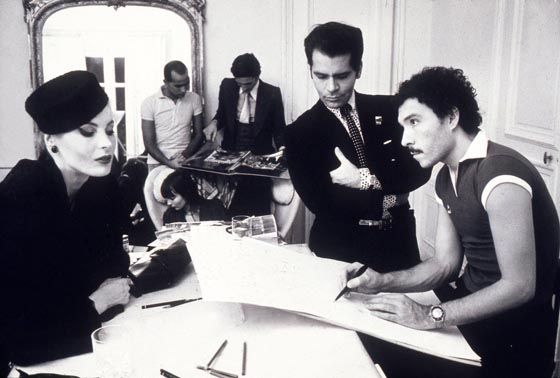 Eija Vehka Aho, Juan Ramos, Jacques de Bascher, Karl Lagerfeld and Antonio Lopez