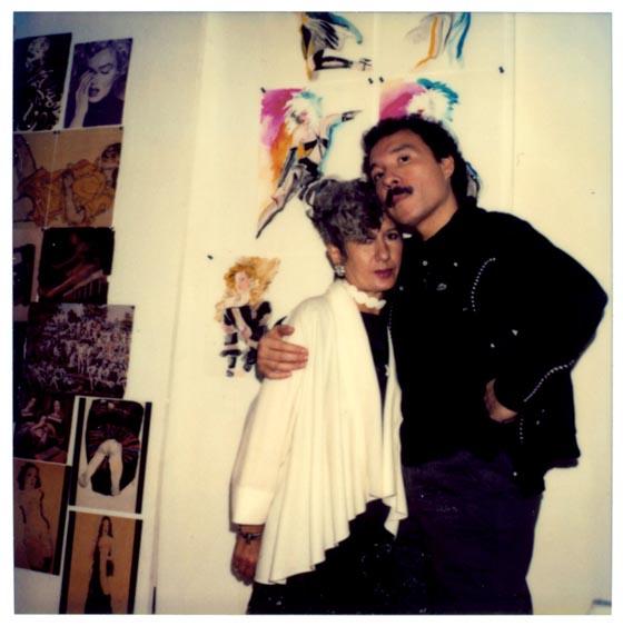 Anna Piaggi and Antonio Lopez, circa 1980