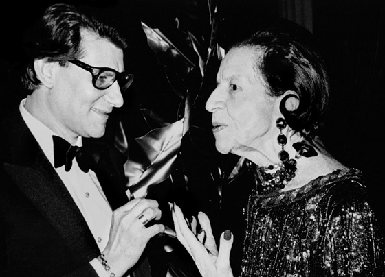 Icons of Fashion, Yves Saint Laurent and Diana, Vreeland MET, New York, 1993