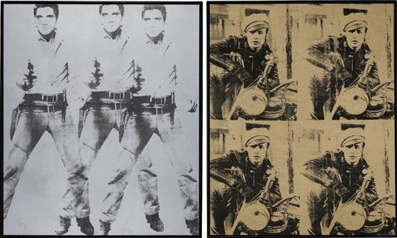 Andy Warhol, 1963, Triple Elvis & Four Marlons, each set. $40-60 million