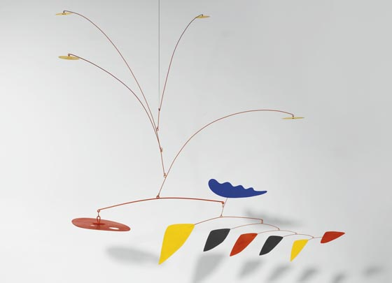 Alexander Calder, Blue Flower, Perforated Red, est. $2.5-3.5 million