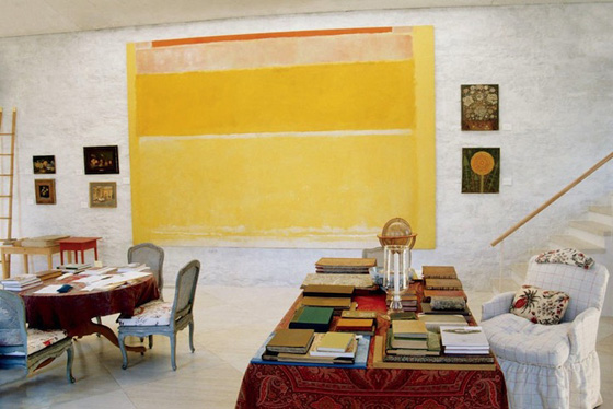 VIRGINIA: The 10 foot wide Rothko in the library was sold privately for an undisclosed sum, surely in excess of $100 million