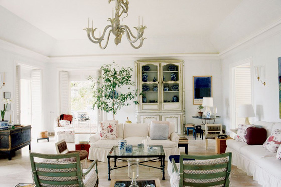 MASSACHSSETS: Living room with $1.4 million Giacometti coffee table