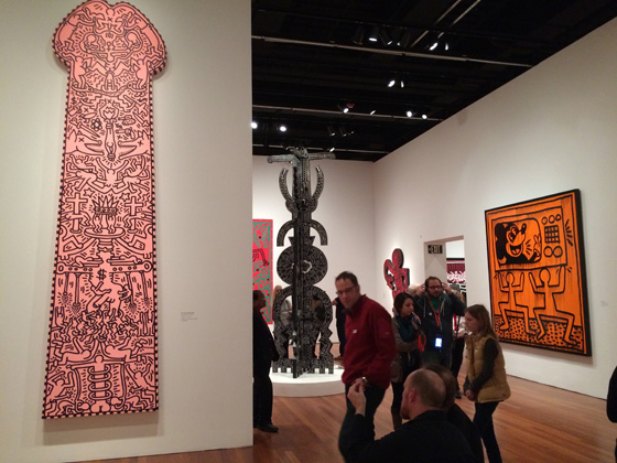 Keith Haring's 12 foot phallus at the de Youngmade some people uncomfortable, no doubt.