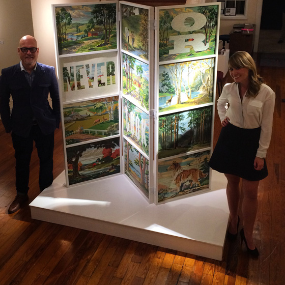 """With Curator Melanie Johansen next to, """"Never Look or You'll Never Leap"""""""