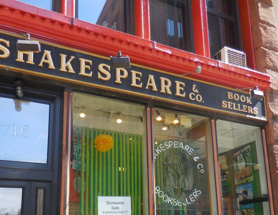 Shakesspeare & Co. – This book store served NYU for 30 years. now only the UES location remains