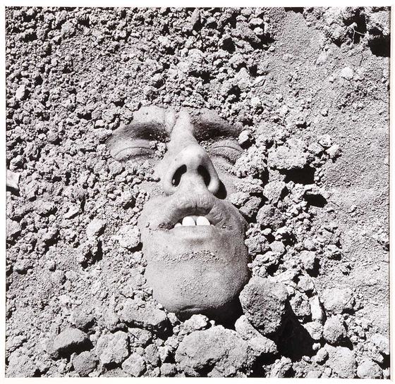 David Wojnarowicz, Untitled (Face in Dirt), 1990