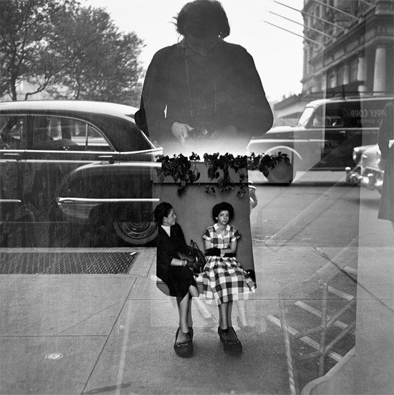 Vivian Maier, self portrait, 1954