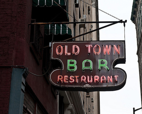 OLD TOWN BAR in the Flat Iron District, open continuously since 1892 it has an amazing intact interior. It's been the location for more than a few TV shows and films.