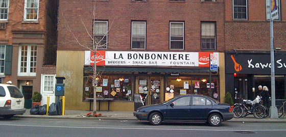 LA BONBONNIERE – Sounds fancy, but this diner in my hood is as real and greasy as it gets, especially in the West Village. It's tiny, cheap and the food isn't that great but if you want eggs or a burger, it's GREAT hangover food.