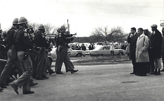 Spider Martin – Hosea Williams And John Lewis Confront Troopers On Bloody Sunday, March 7, 1965