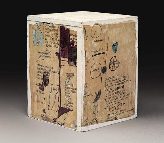 Jean-Michel-Basquiat-Untitled-1985.-Xerox-collage-on-wood-box-11-1-8-x-8-1-2-x-8-1-2-in.-28.3-x-21.6-x-21.6-cm.jpg