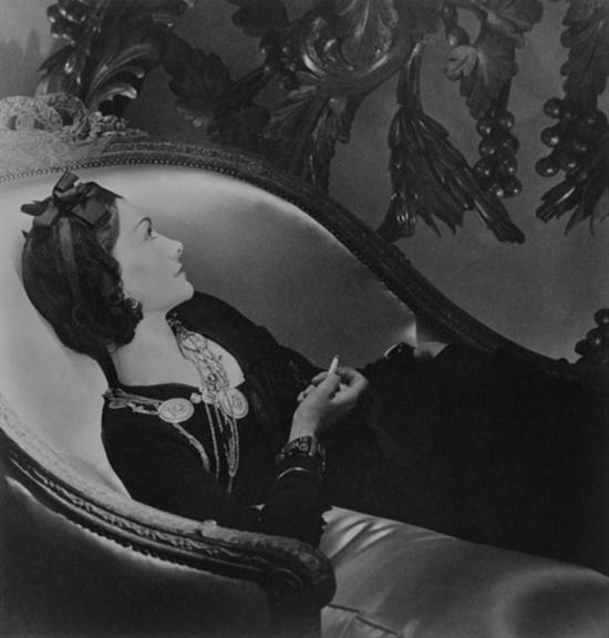 Horst P. Horst   Coco Chanel, Paris, 1937   Est. $10,000–15,000 USD