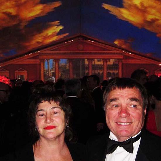 Chris with his wife, artist Nancy Rubins. Photo: Todd Eberle