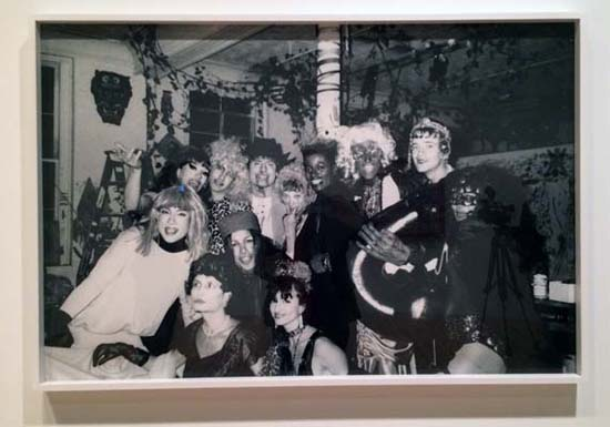 Halloween 1988 at Kenney Scharf's loft. Can you spot me (in drag) and Ann Magnuson, Joey Arias and Keith Haring (with the giant black dildo)? Photo, Trey Speegle