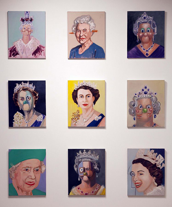 George Condo's 9 portraits of the Queen