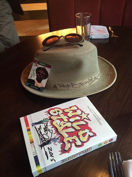 Items donated by Fred Brathwaite, aka Fab 5 Freddy