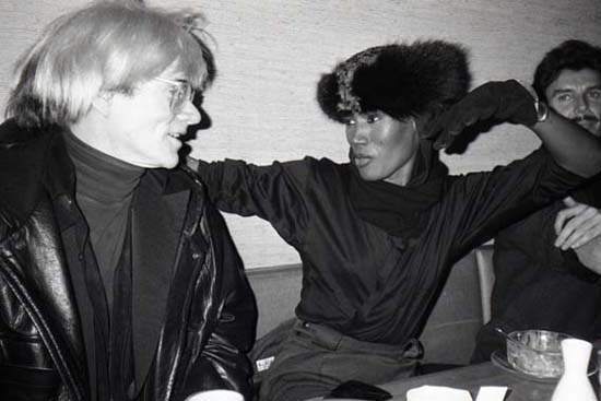 Andy Warhol And Grace Jones, Nippon, New York City, 1985
