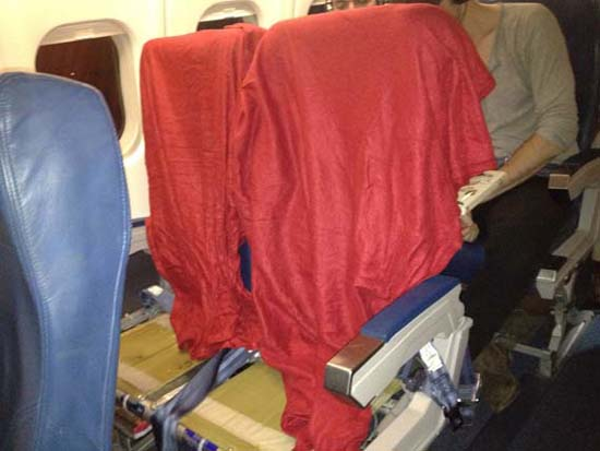 The seats on my offending flight...