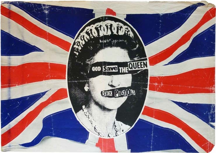 """THE SEX PISTOLS   """"God Save The Queen"""" Promotional Poster, 1977, $950"""