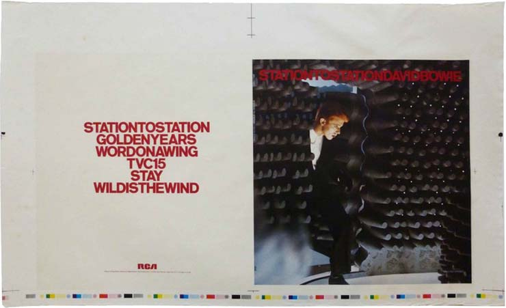 """DAVID BOWIE   Proof for Withdrawn """"Station To Station"""" Album Cover, 1976, $1400"""