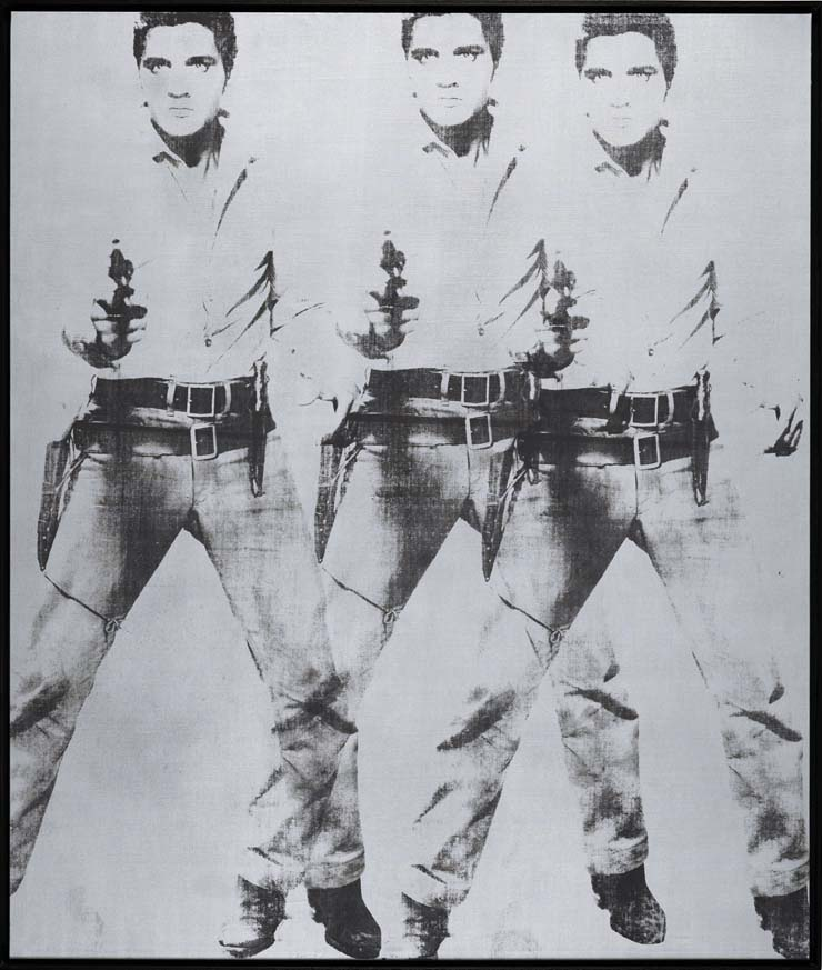 This Triple Elvis (Ferus Type), 1963, sold at Christie's in New York $81.9 million in 2014