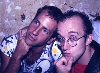 Just kids... Scharf & Haring back in the day