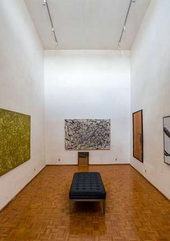 The private double-height art gallery