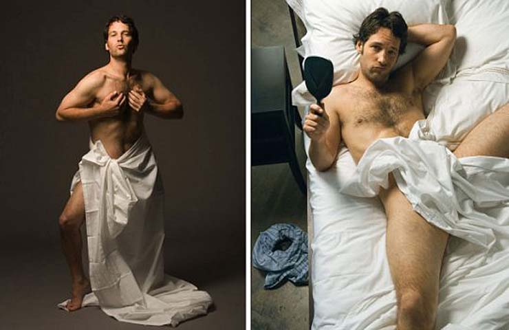 """""""This was for Rolling Stone's Hot issue. It seemed absurd to do anything where we tried to make Paul Rudd look deliberately 'hot.' His 'hotness' comes effortlessly. He agreed we should mock the whole notion of 'hot.' He agree to get in the bed. He agree the boxers were getting in the way and dropped them. Months later, he sent me a nice note saying friends had seen the photo on the walls of gay bars across America and he couldn't be more proud."""""""