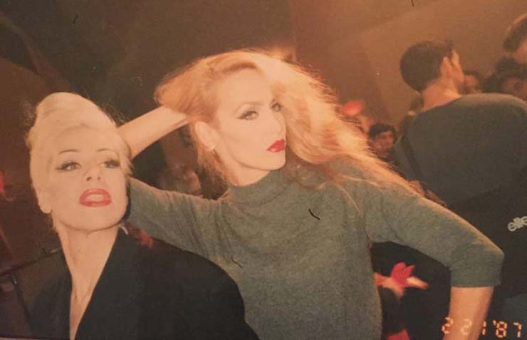 Jerry Hall backstage at Mugler, Paris, 1995. Personal photo, Dianne Brill