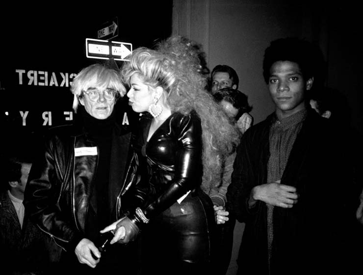 """Andy Warhol, Jean-Michel Basquiat at an Outlaw party in NYC 1986 in an abandoned subway station. """"It was totally illegal and so fun. The party lasted 20 minutes before it was closed down."""""""