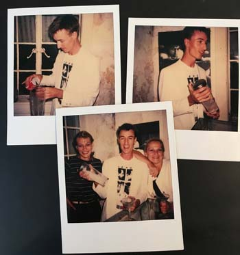 """John Powell (& friends) at my """"RePop"""" opening in 1981"""