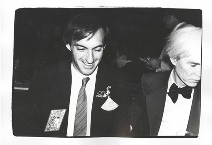 Jon Gould with and by Andy Warhol, circa '82. Photo, Christie's