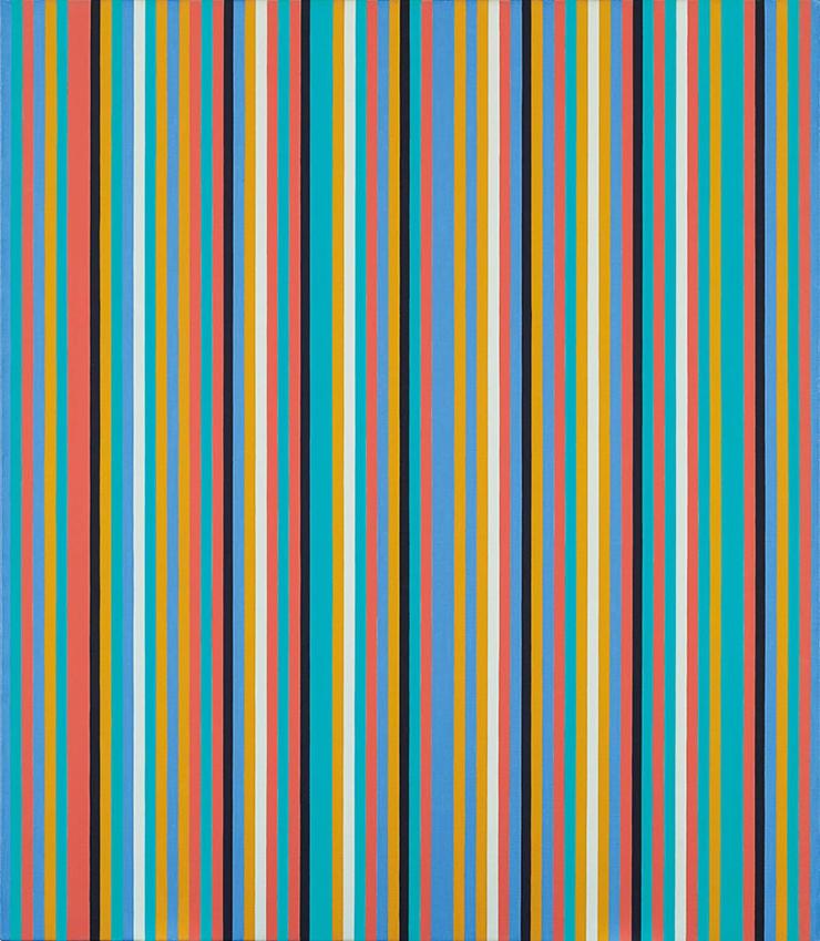 Bridget Riley, Songbird, 1982. Oil on linen. 42 x 36 in