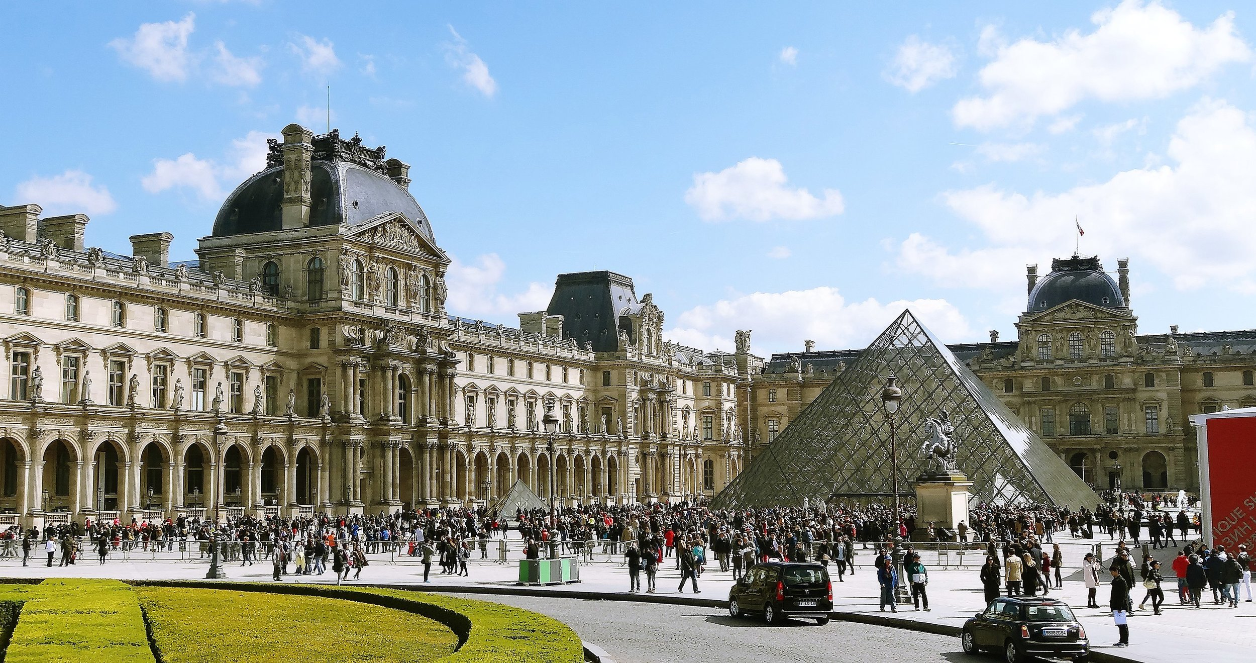 "Pei decided that a pyramid was ""most compatible"" with the other structures at the Louvre, complementing their roofs' faceted planes."