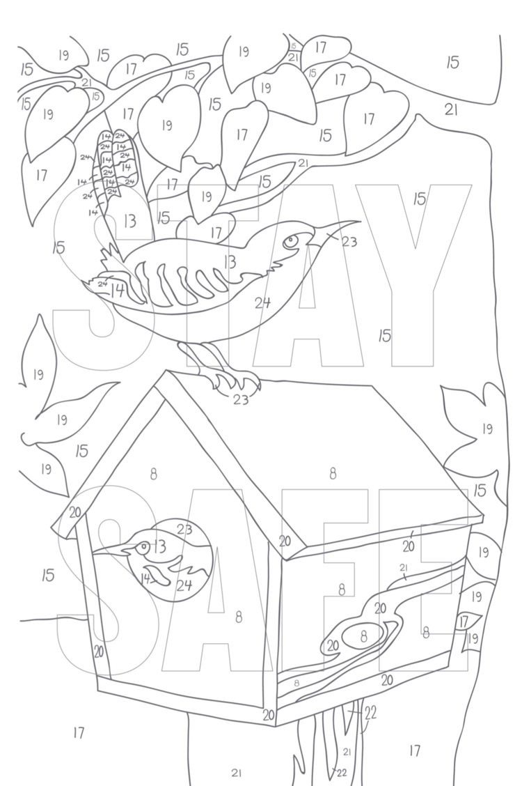 THE CORONAVILLE ARTIST COLORING BOOK print on demand at Blurb