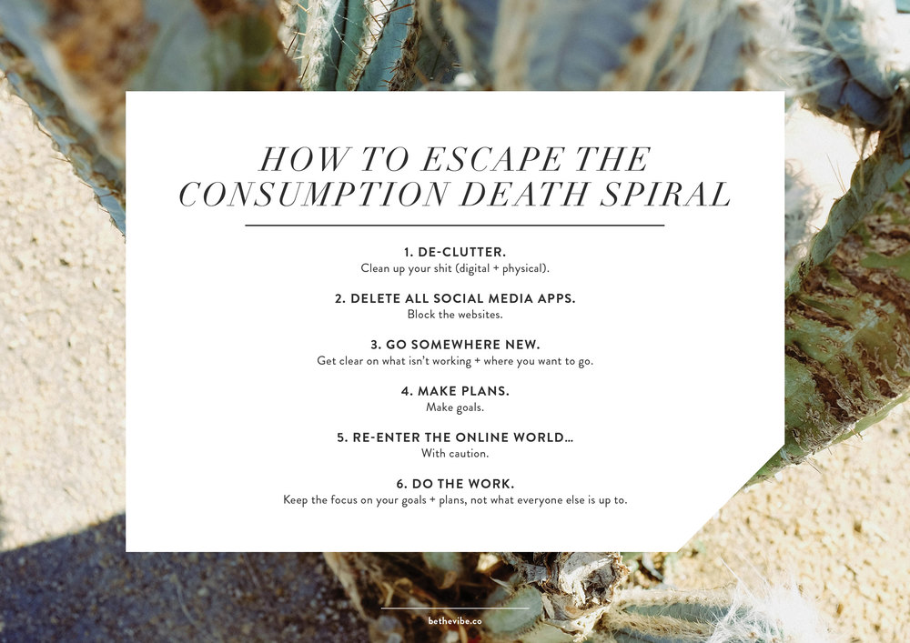 How To Escape The Consumption Death Spiral | freshbysian.com