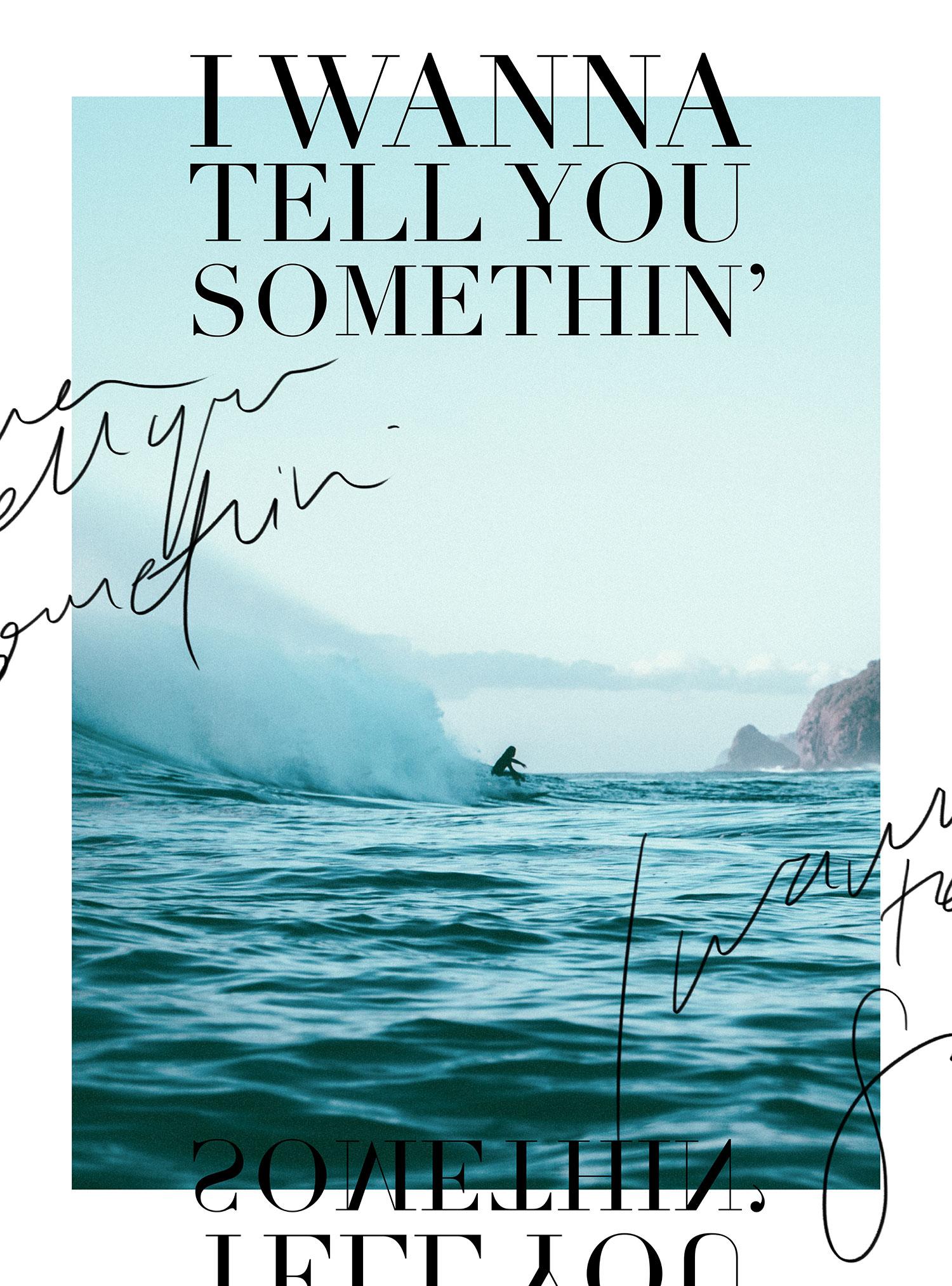 I wanna tell you somethin' | freshbysian.com